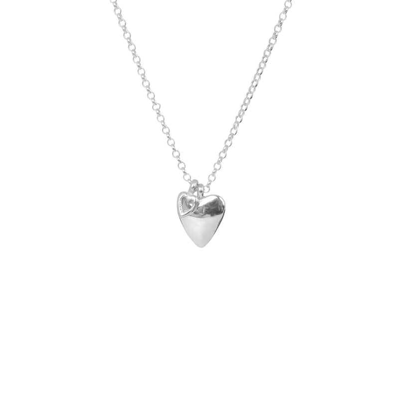 Sweetheart X Tiny Open Heart Necklace