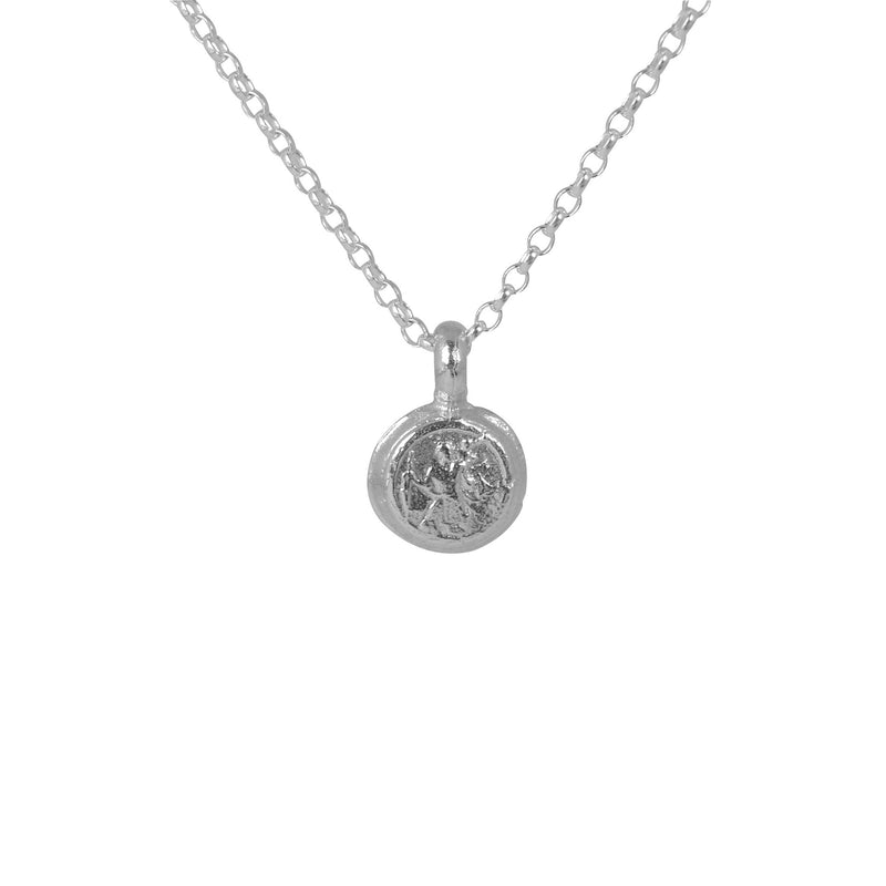 Tiny St Christopher Necklace