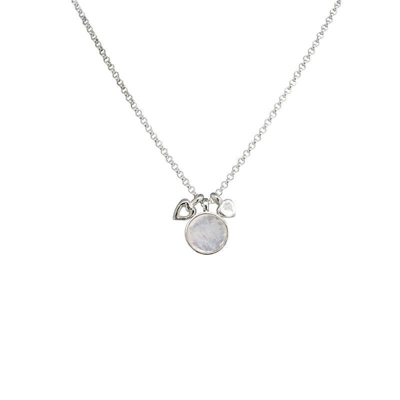 Allure Moonstone Double Heart Necklace