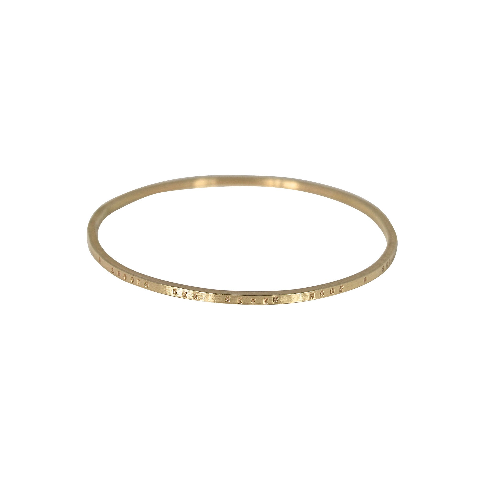 Gold Personalised Square Bangle