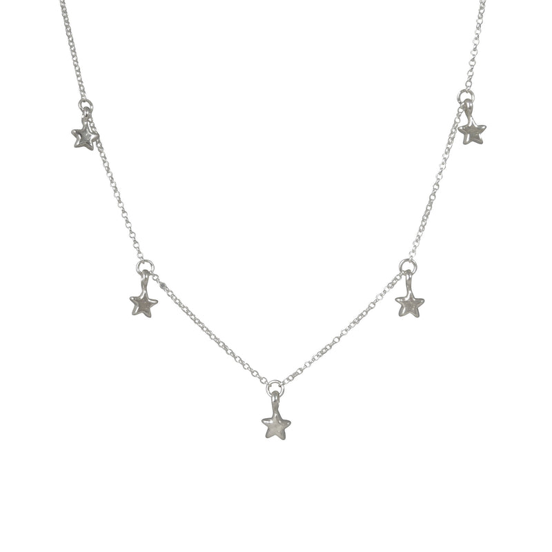 Tiny 5 Star Necklace