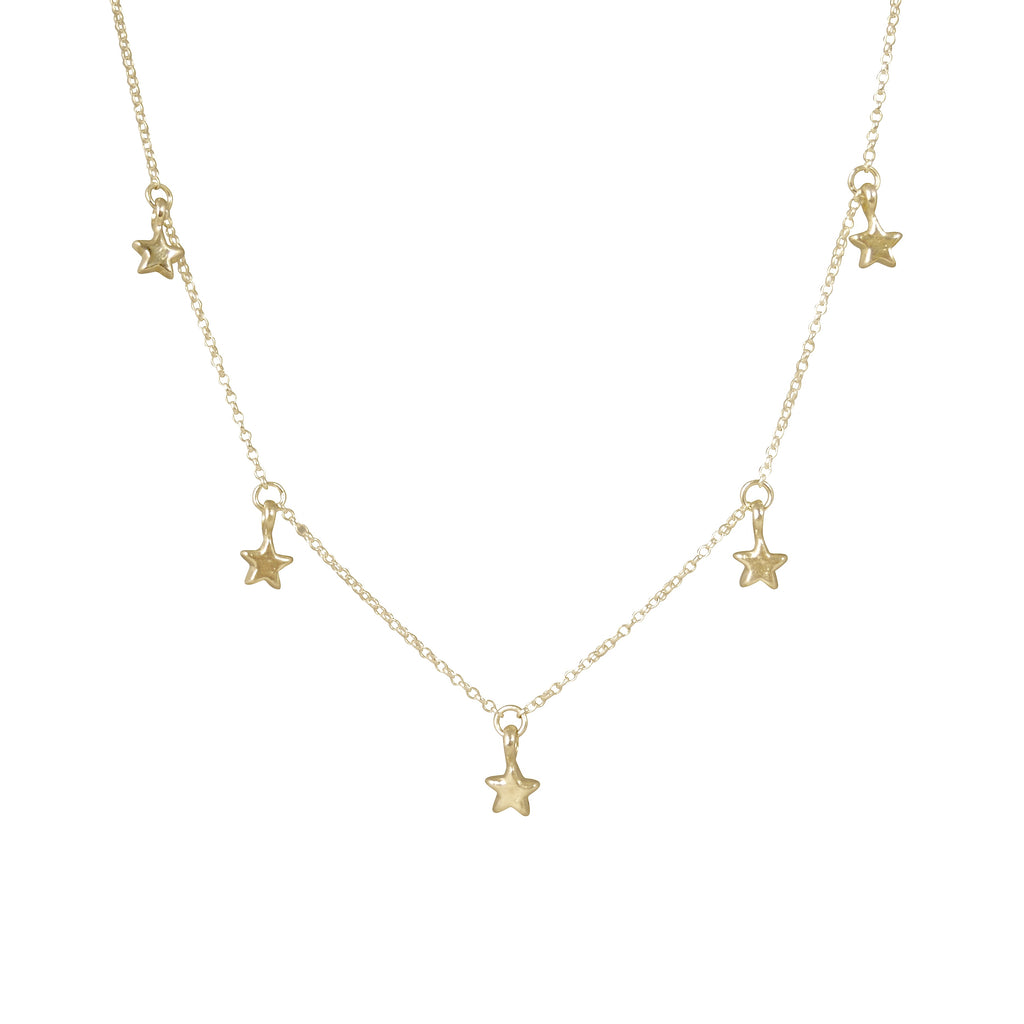 Gold 5 Star Necklace
