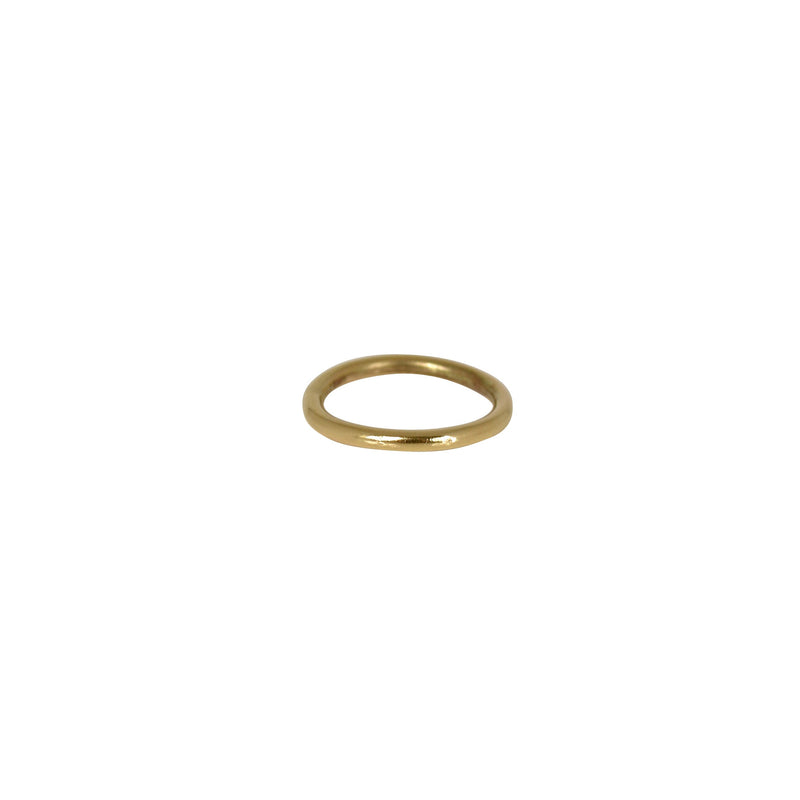Gold Smooth Stack Ring