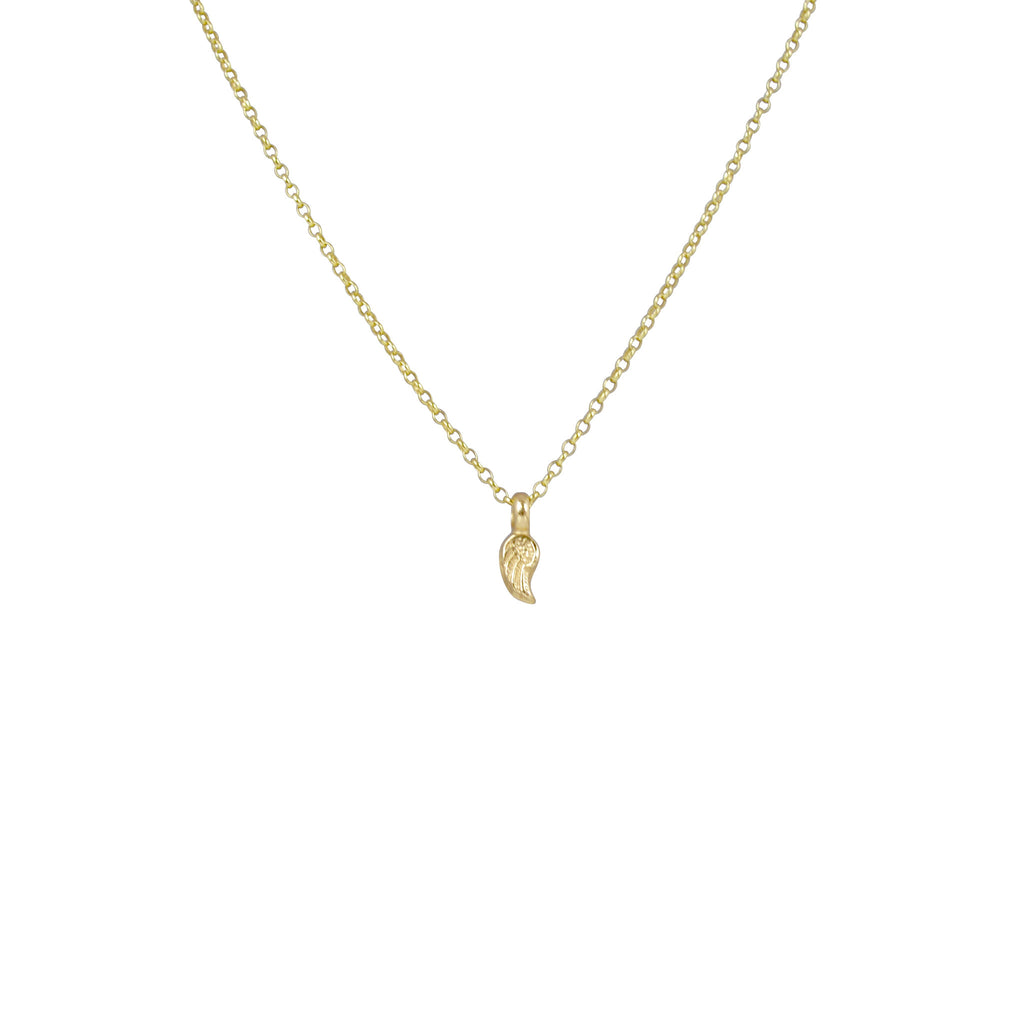 Gold Tiny Angel Wing Necklace