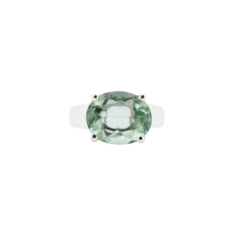 Allure Fluorite Oval Claw Ring