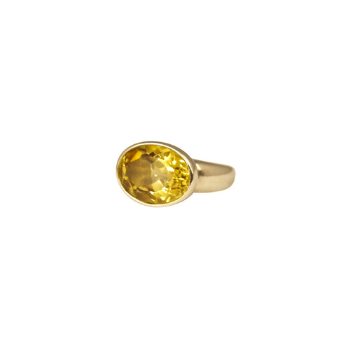 Allure Gold Citrine Ring