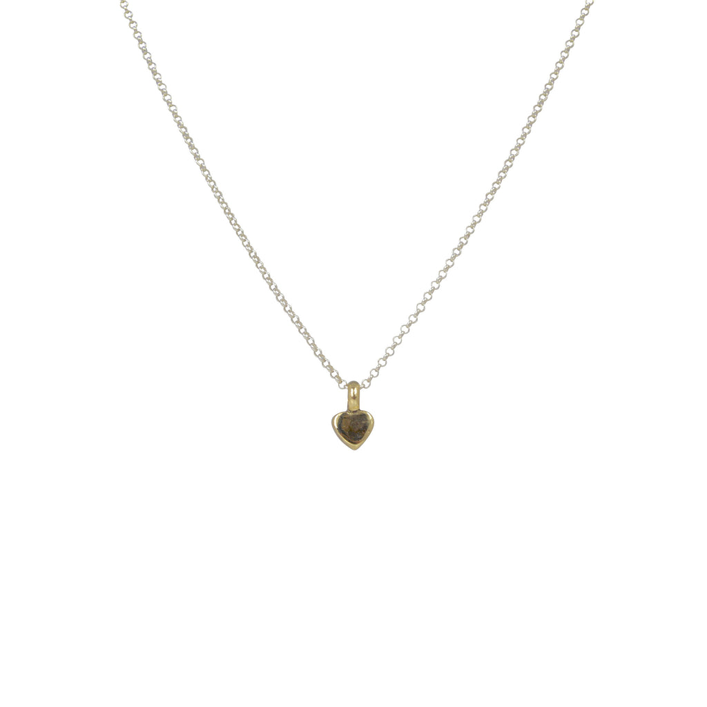 Gold Mixed Tiny Heart Necklace