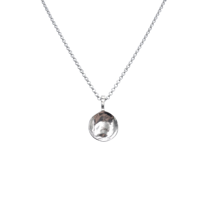 Moon Disc Necklace