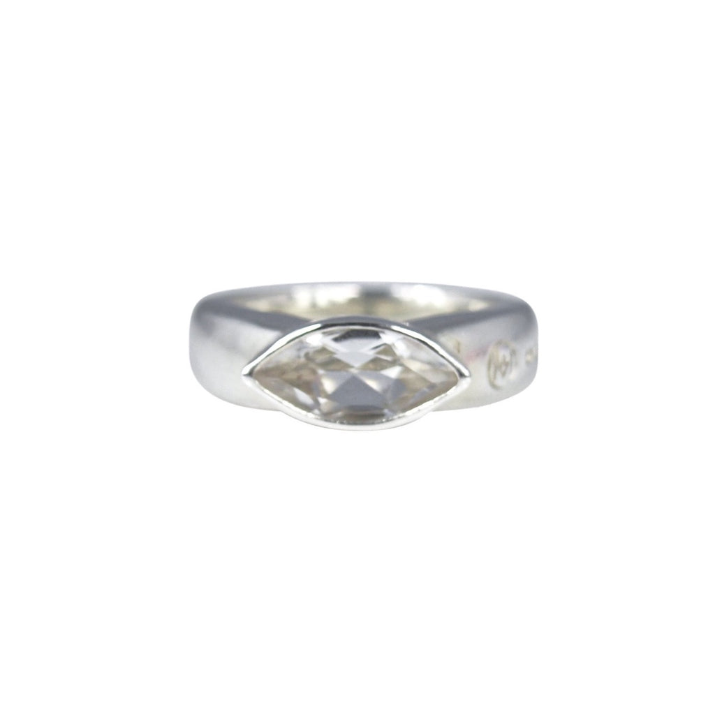 Allure White Topaz Eye Ring