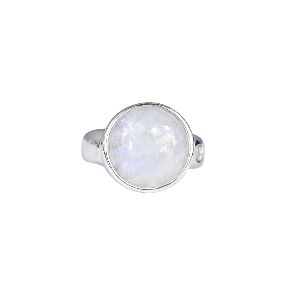Allure Circle Moonstone Ring
