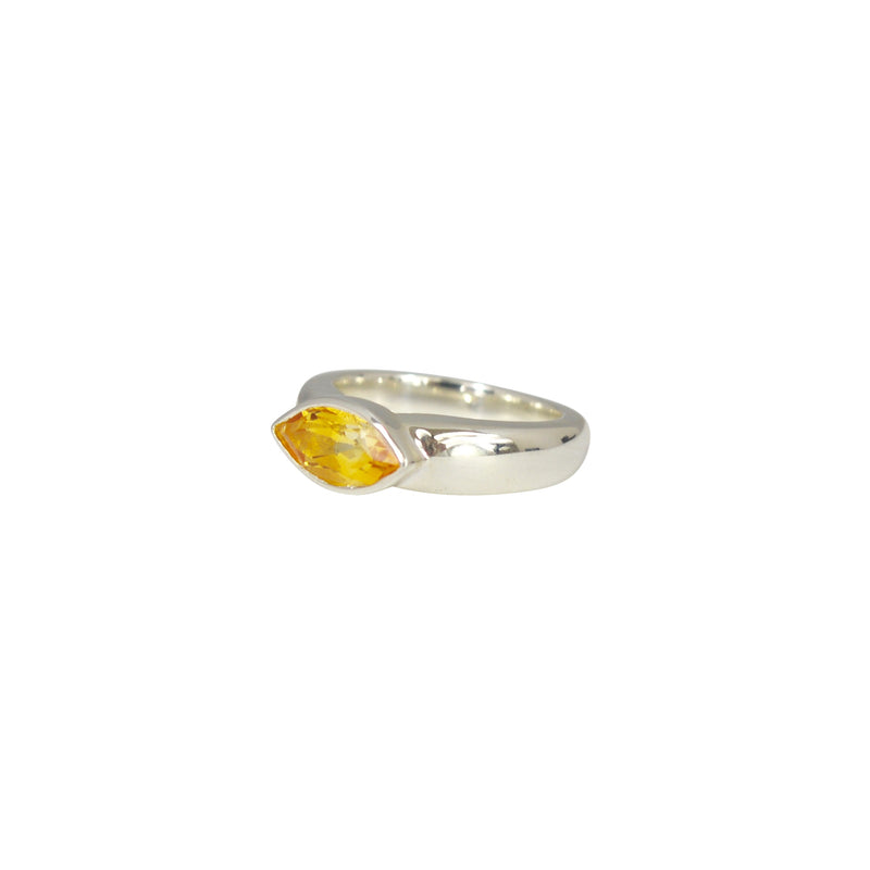 Allure Citrine Faceted Eye Ring