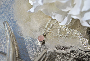 Allure Rose Quartz Baby Necklace