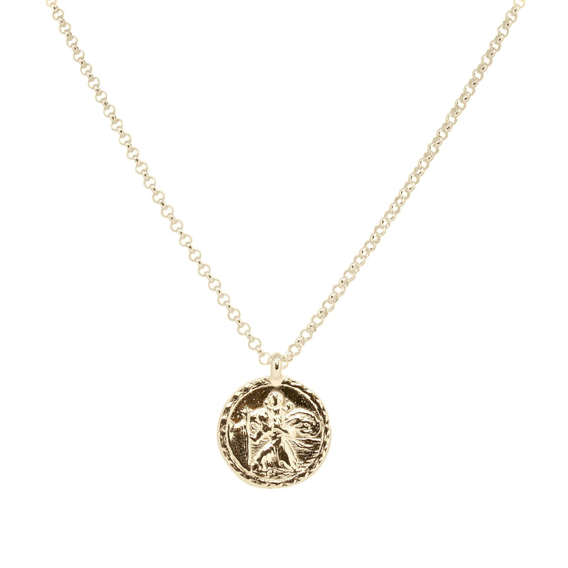 Gold St Christopher Medallion