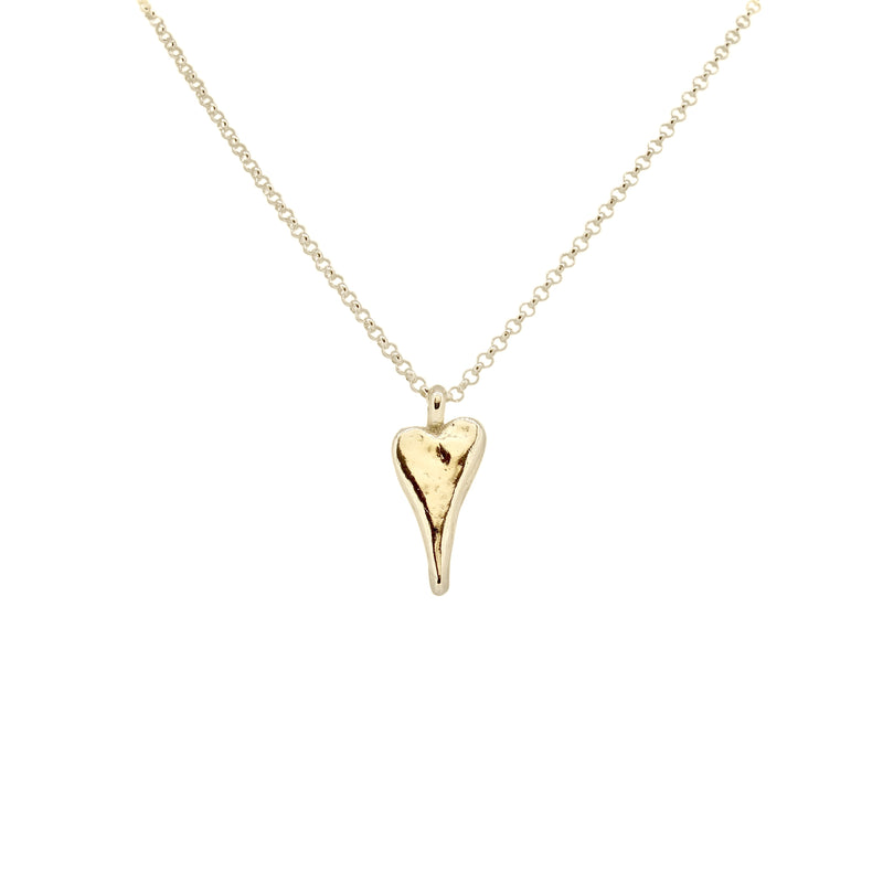 Gold Natalie Heart Necklace