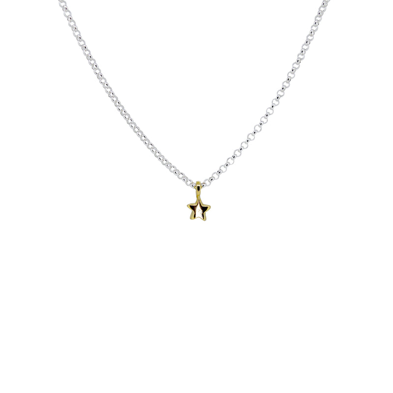 Gold Mixed Tiny Star Necklace