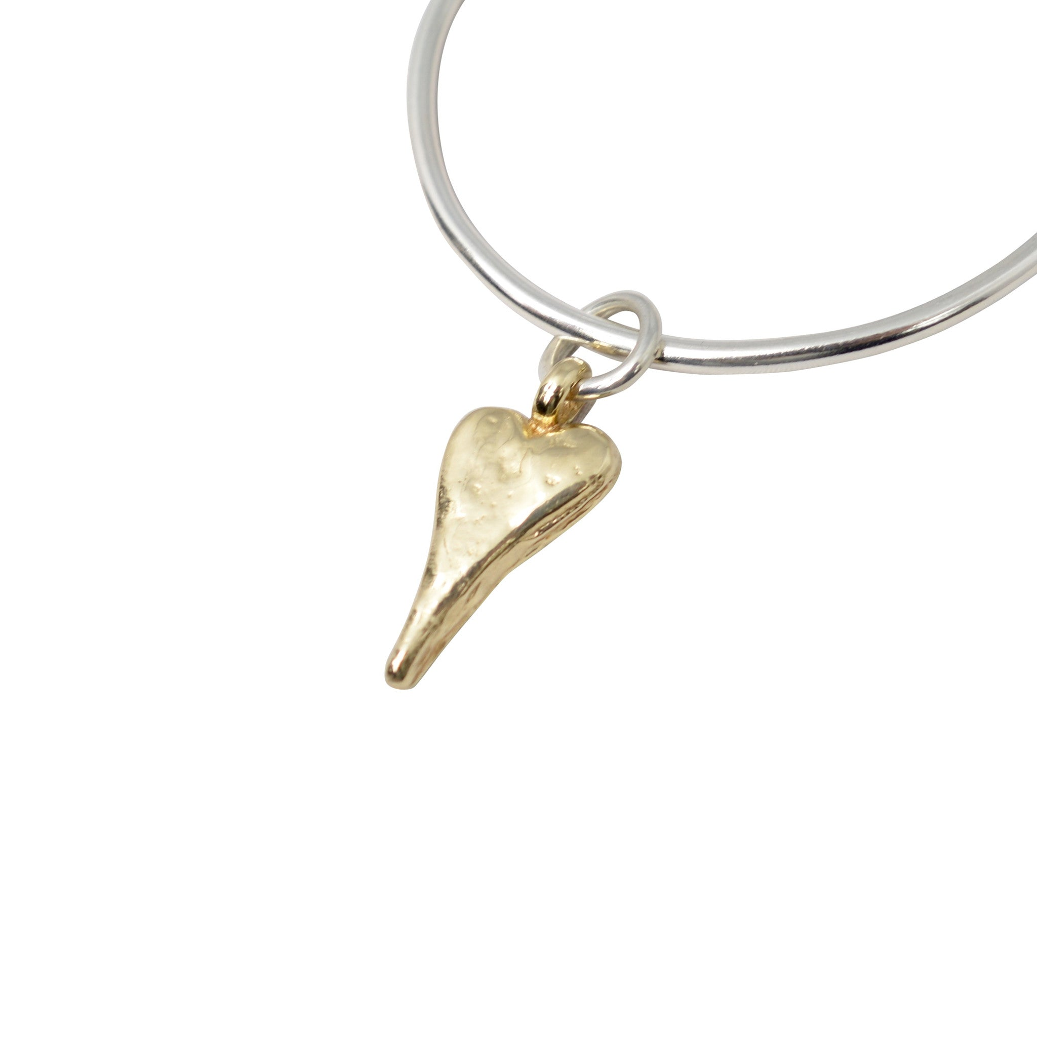 Gold Natalie Heart X Silver Bangle