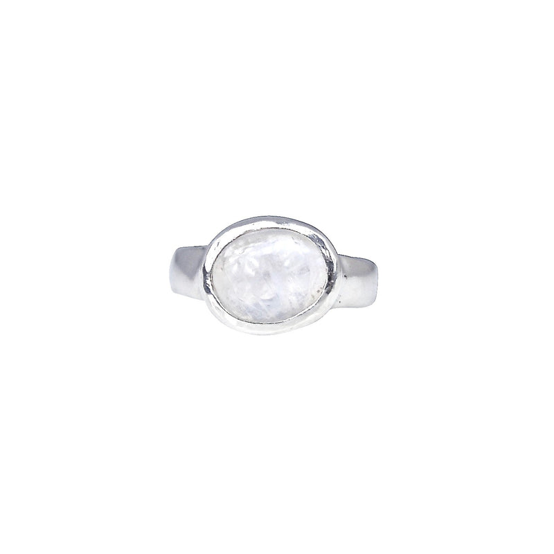 Iced Baby Moonstone Ring