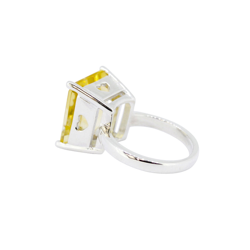 Citrine Queen of Hearts Ring