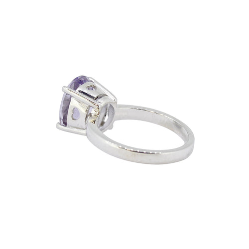 Amethyst Princess Heart Ring