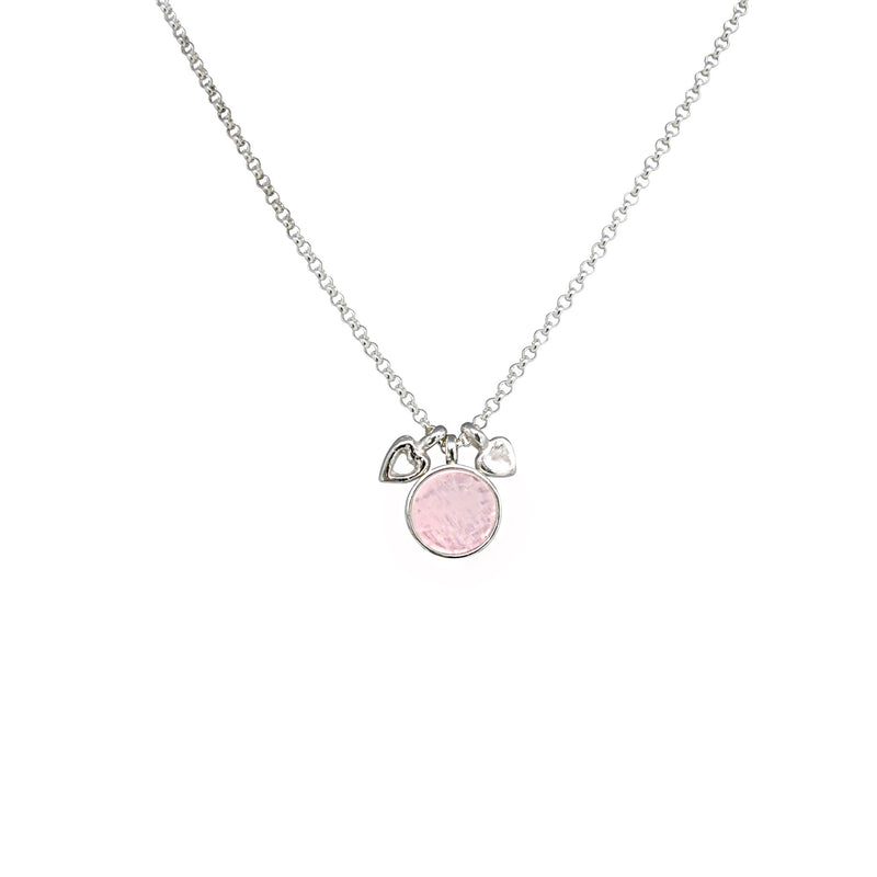 Allure Rose Quartz Double Heart Necklace
