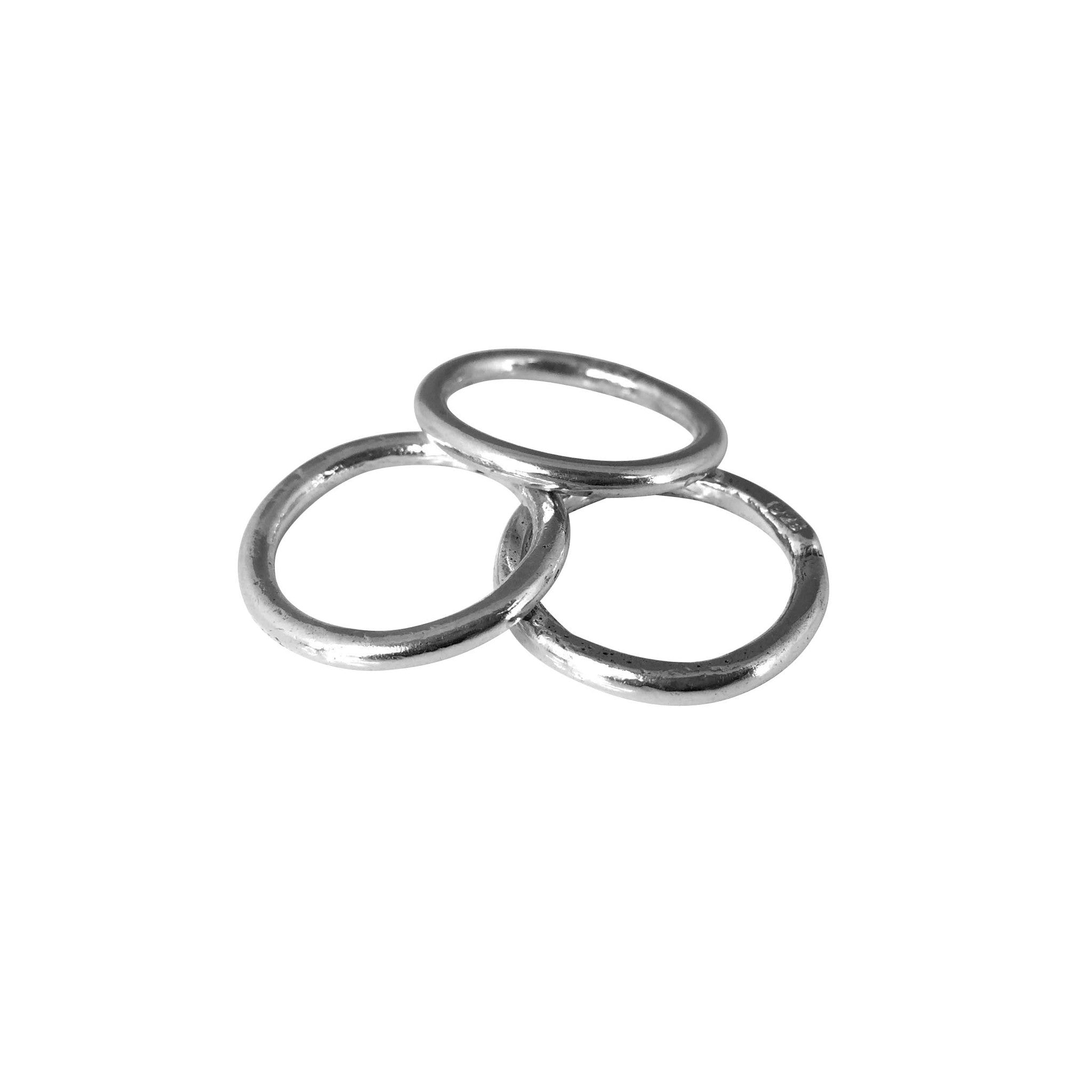Plain Stacking Ring Trio