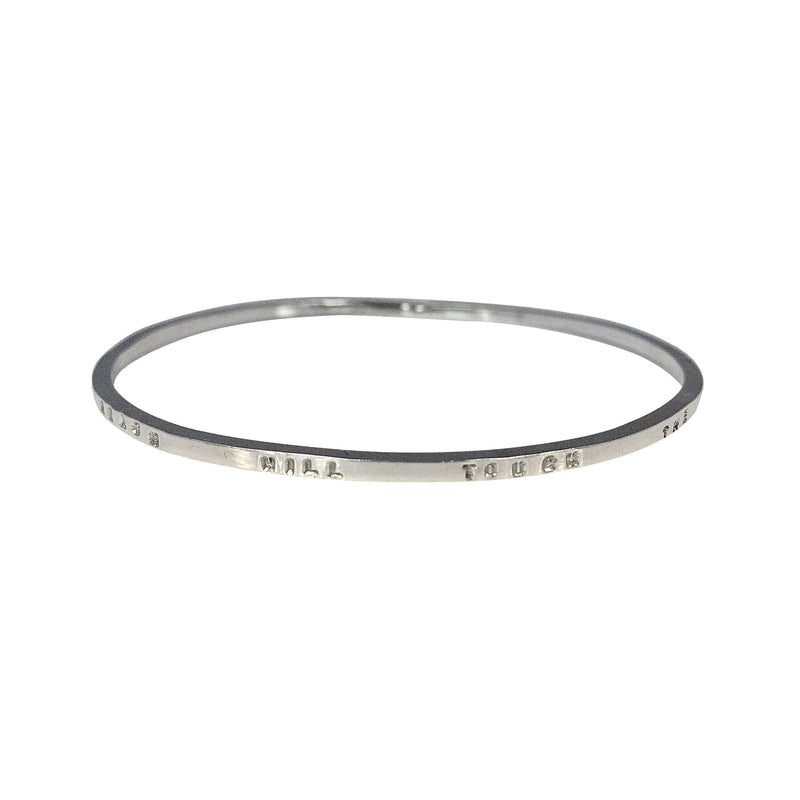 Thin Personalised Square Bangle