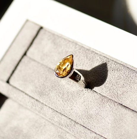 Allure Citrine Pear Ring