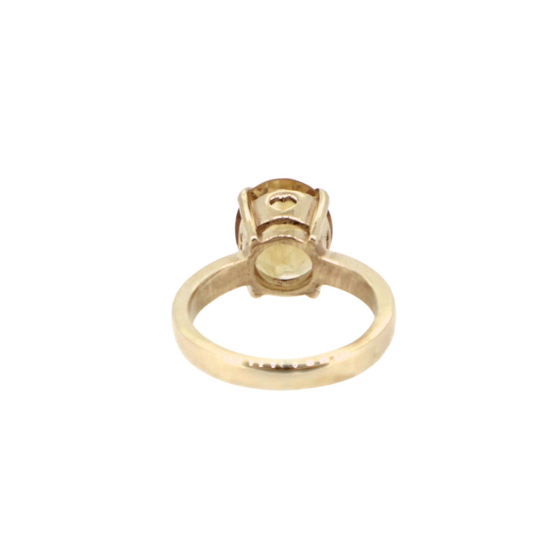 Gold Citrine Princess Ring