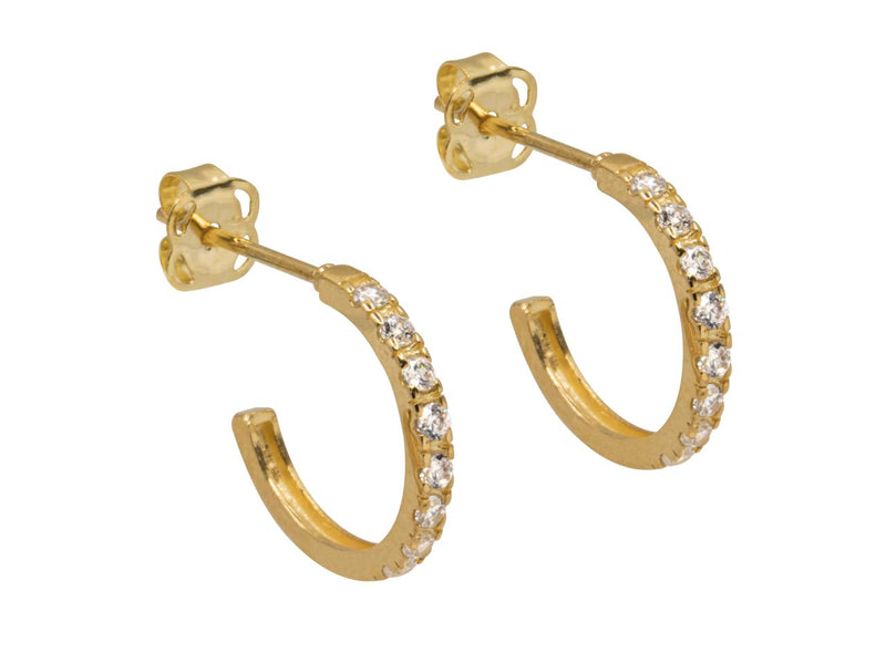 Gold Athena Hoops