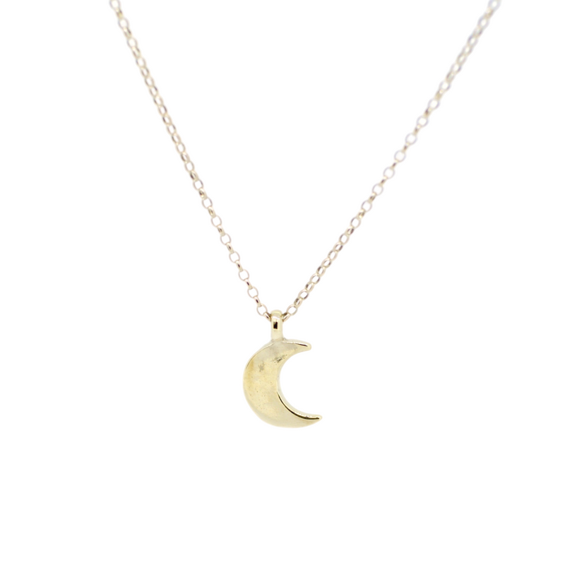 Gold Midi Moon Necklace