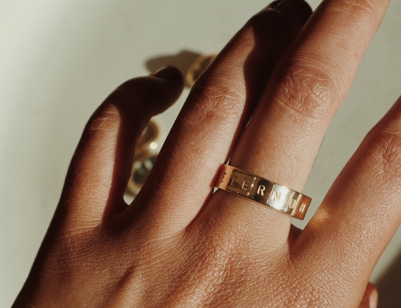 Gold Personalised Ring