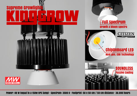 "KING-GROW COB LED ""Full Spectrum"" 48W"