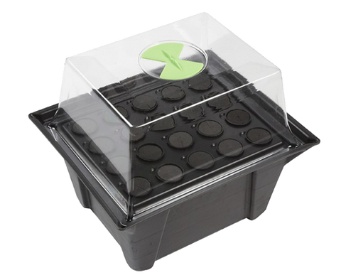 Clone Master - Aeroponic Cuttings Propagator - Grey & Green Growshop - 1
