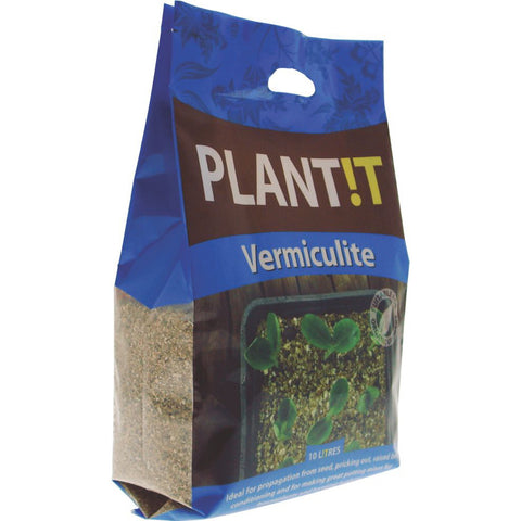 PLANT!T Vermiculite 10L - Grey & Green Growshop