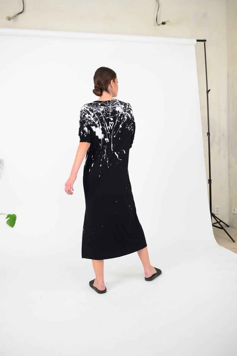 SS20 DRESS BLACK / PAINTED