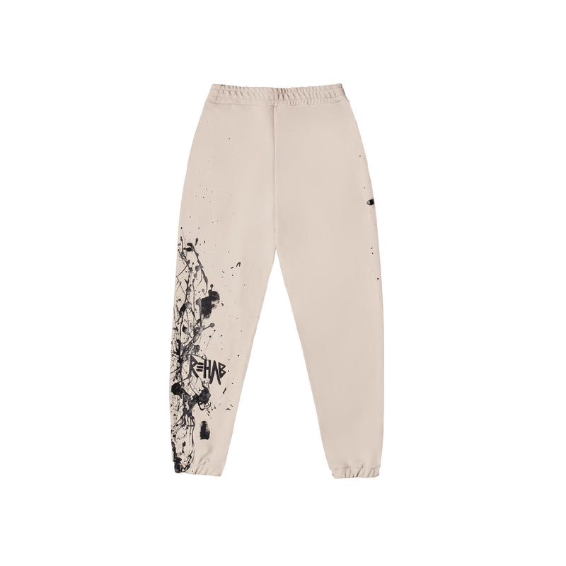AW20 SWEATPANTS CREAM | PAINTED