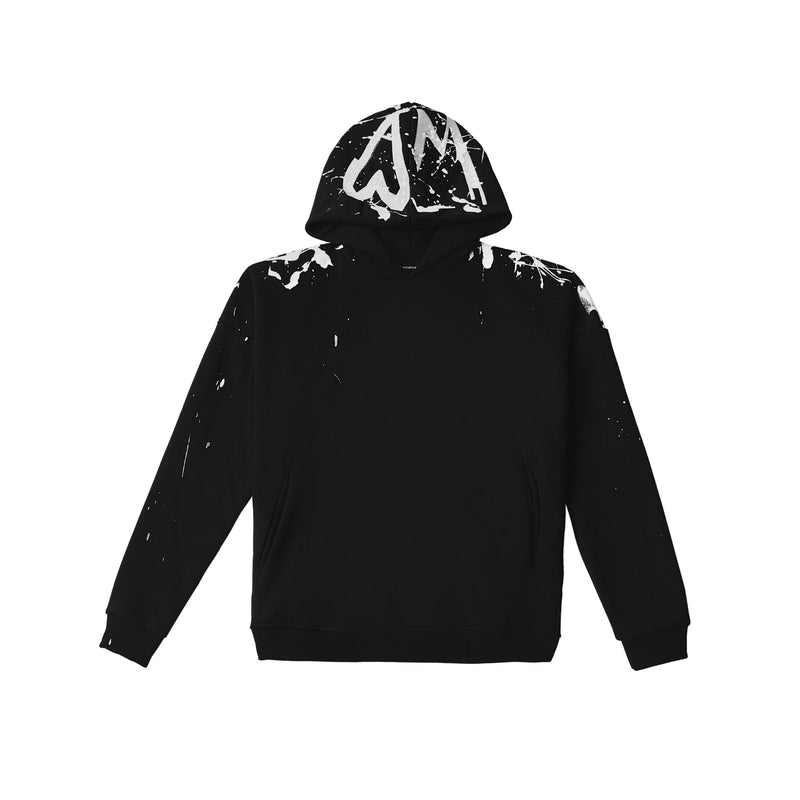 "AW20 HOODIE BLACK ""1INTHEWORLD"" 