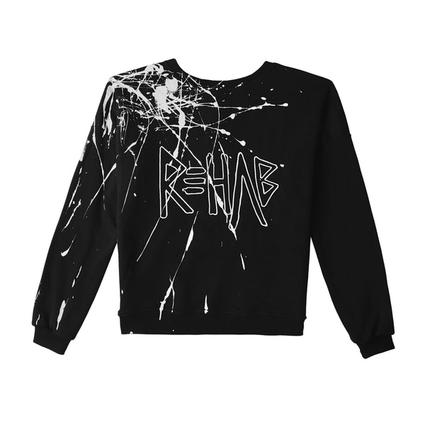 AW20 SWEATSHIRT BLACK | PAINTED