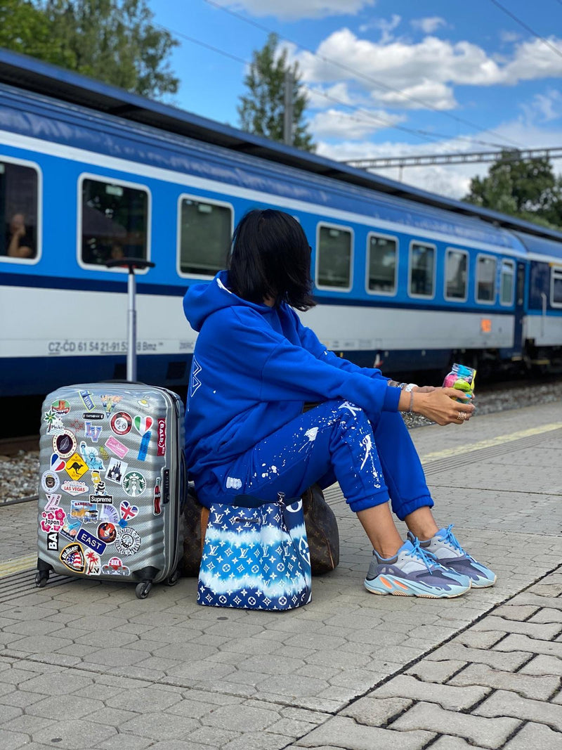 SS20 SWEATPANTS BLUE / PAINTED