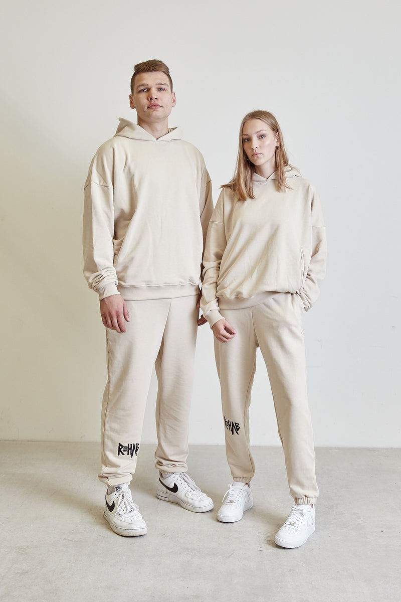 AW20 SWEATPANTS CREAM | MINIMAL