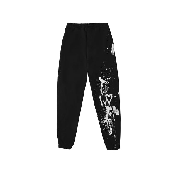 "AW20 SWEATPANTS BLACK ""1INTHEWORLD"" 