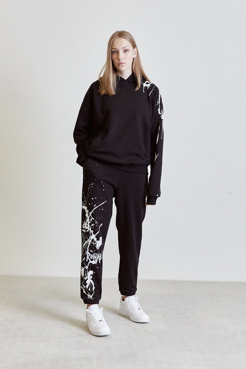 AW20 SWEATPANTS BLACK | PAINTED