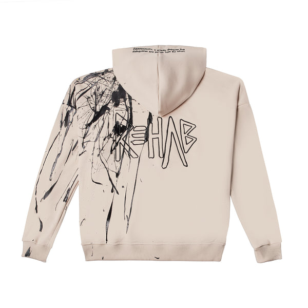 AW20 HOODIE CREAM | PAINTED