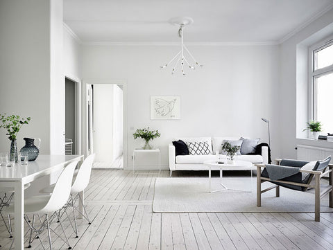All white swedish home tour immy indi for Simple minimalist lifestyle