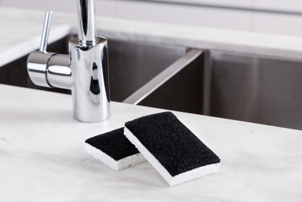 Black and White Scourer Sponge - 2 Pack