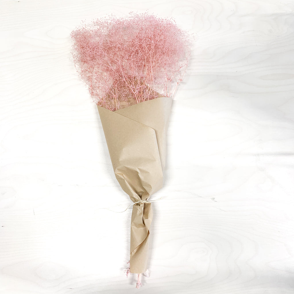 Preserved Gypsofila Cloud Bunch Large - Rose Pink