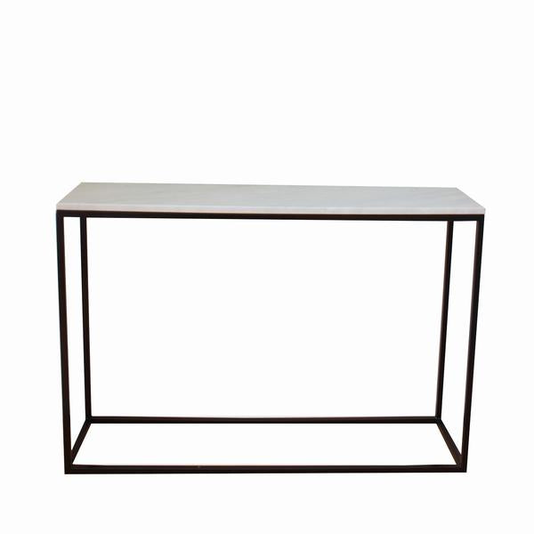 Carrara Marble Entrance Table - Small