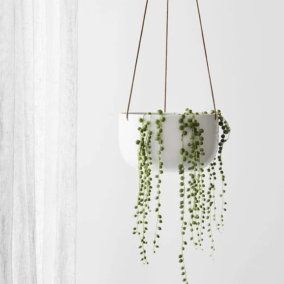 Cade Hanging Pot | Soft White - Large