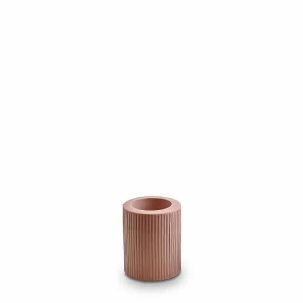 Ribbed Infinity Candle Holder | Ochre - Large
