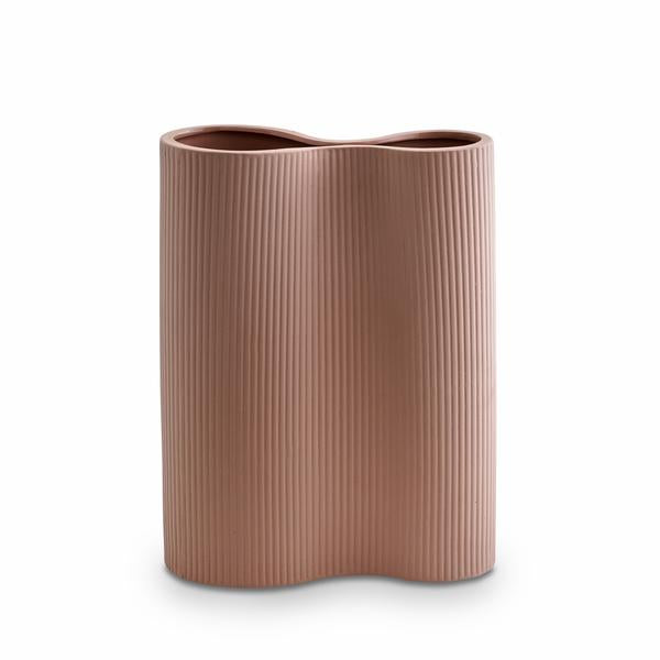 Ribbed Infinity Vase | Medium | Ochre